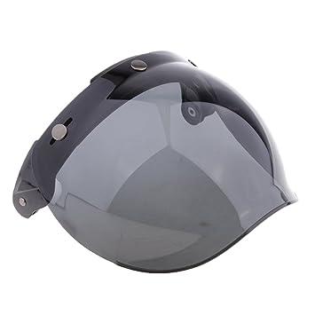 Baoblaze Visera para Cascos con 3 Broches Protección de Viento para Motocicleta - 7