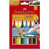 Canetinha Hidrográfica Jumbo 6 Cores, Faber-Castell