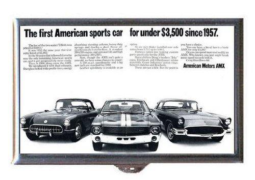 tors AMX Retro Car Ad, Guitar Pick or Pill Box USA Made ()
