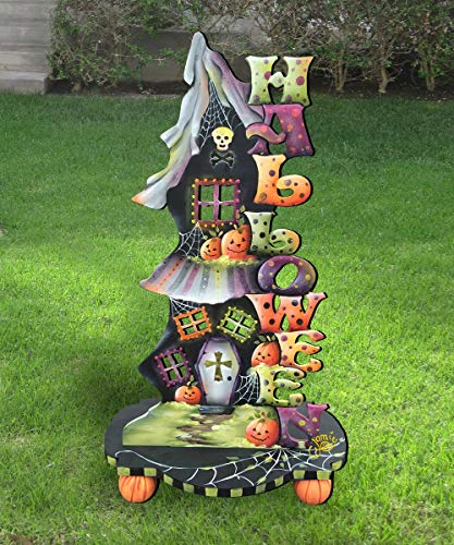 Halloween Outdoor Decorations, Yard decorations, lawn decor, Halloween Candle Holder Free-Standing Outdoor Decoration by Jamie Mills-Price #8457402F]()