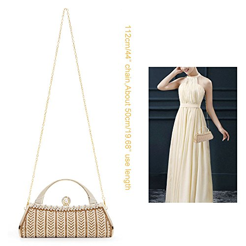 3 Bridal Womans Party Cluthc Wedding Bag Metal Bags Tote Prom Hard Purse Bag Handbag Evening Gold Frame Case SXSxT