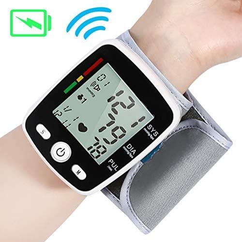 YFGlgy Handgelenk-Blutdruckmessgerät mit USB-Aufladung, tragbarer digitaler Blutdruckmessautomat, Speichermodus mit 180 Messwerten, Sprachübertragung, Anzeige für unregelmäßigen Herzschlag
