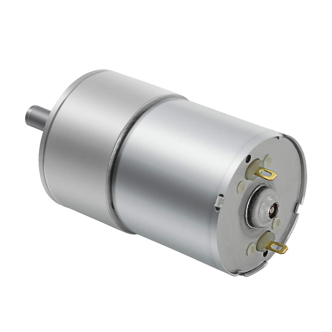 with Metal Reducer Gearbox 12V//50RPM Centric Output Shaft 37mm Diameter LMioEtool DC Electric Gear Motor High Torque Reversible Mini Speed Reduction Geared Motor