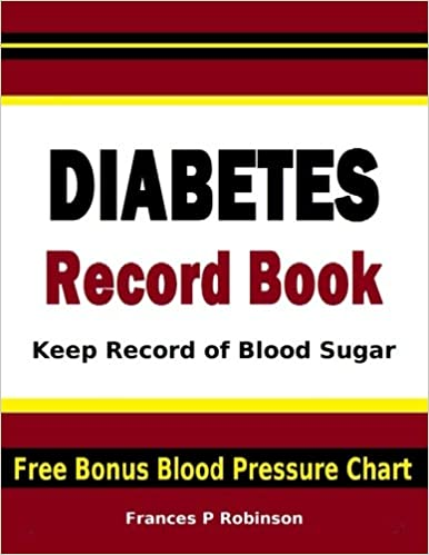 Diabetes Record Book Keep Record Of Blood Sugar In This Diabetes