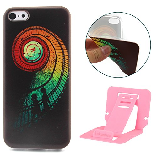 Fashion Coque pour Apple iphone 5c, Crystal Housse en Soft TPU Gel Silicone pour iphone 5c, iphone 5c Flexible Souple Cas Back Case Cover de Protection, Ultra Slim Créatif Dessin Couleur Motif de esca