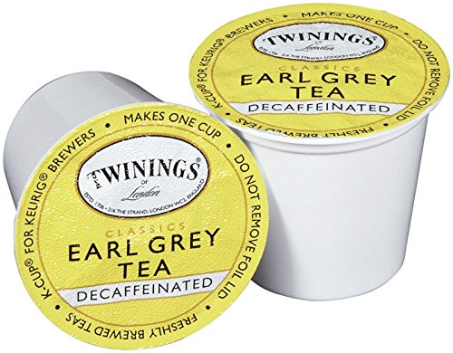 Twinings Earl Grey Decaf Tea K-Cup, 24 Count