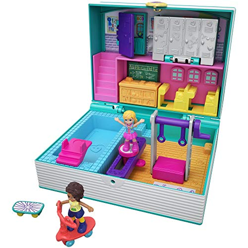 Polly Pocket Mini Middle School (Polly Pocket Pool Party On The Go)
