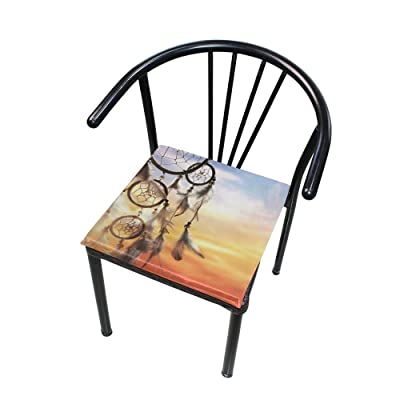 "Bardic HNTGHX Outdoor/Indoor Chair Cushion Sunset Dreamcatcher Square Memory Foam Seat Pads Cushion for Patio Dining, 16"" x 16"": Home & Kitchen"