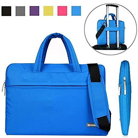 Kitron Denim Fabric 15-15.6 Inches Inch Laptop/Notebook Computer/MacBook/ MacBook Pro Sleeve Briefcase Laptop Shockproof WaterResistant Case Computer Shoulder Bag Luggage Trolley - Hp Belt Case