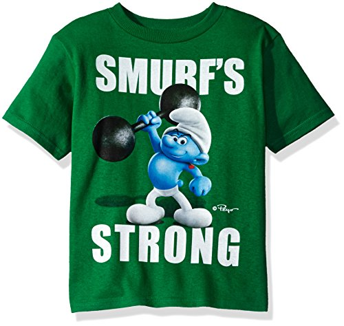 Smurfs Big Boys' The Lost Village Short Sleeve Graphic T-Shirt, Kelly, 8