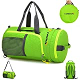 Best Gym Bags for Women Gym Duffle Bag, Foldable 3 in 1 Function, Comsun Sports Duffel Backpack, Sports Gym Bag for Women and Men, Foldable Gym Backpack Sport Training Backpack for Outdoor Travel Duffel With Shoulder Strap