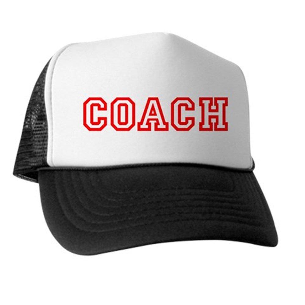 3bc3271b5a6 Amazon.com  CafePress - Coach Coaching Trucker Mesh Hat - Trucker ...