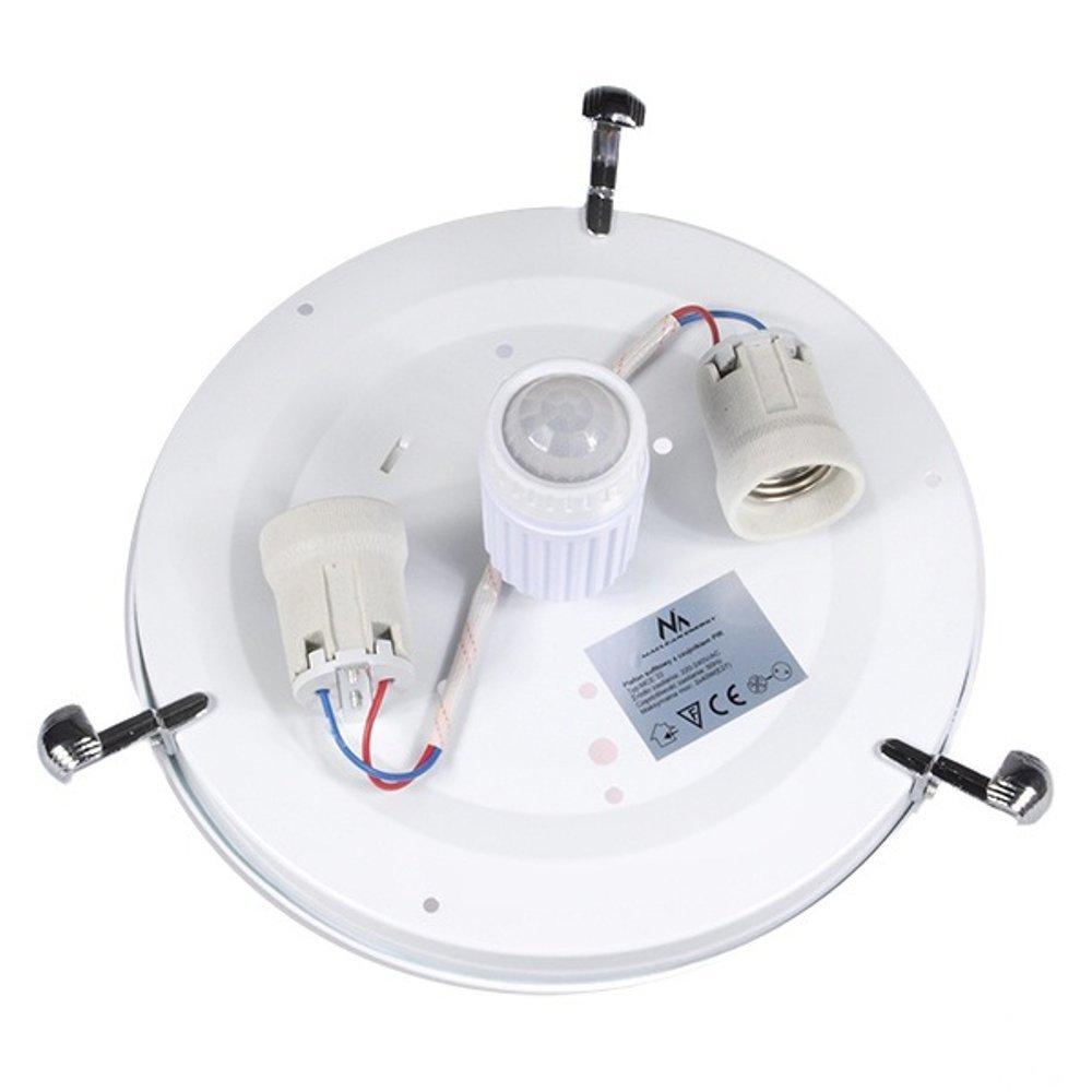Maclean MCE22 plafón Detector de movimiento Plafond De Infrarrojos LED Color Blanco: Amazon.es: Electrónica