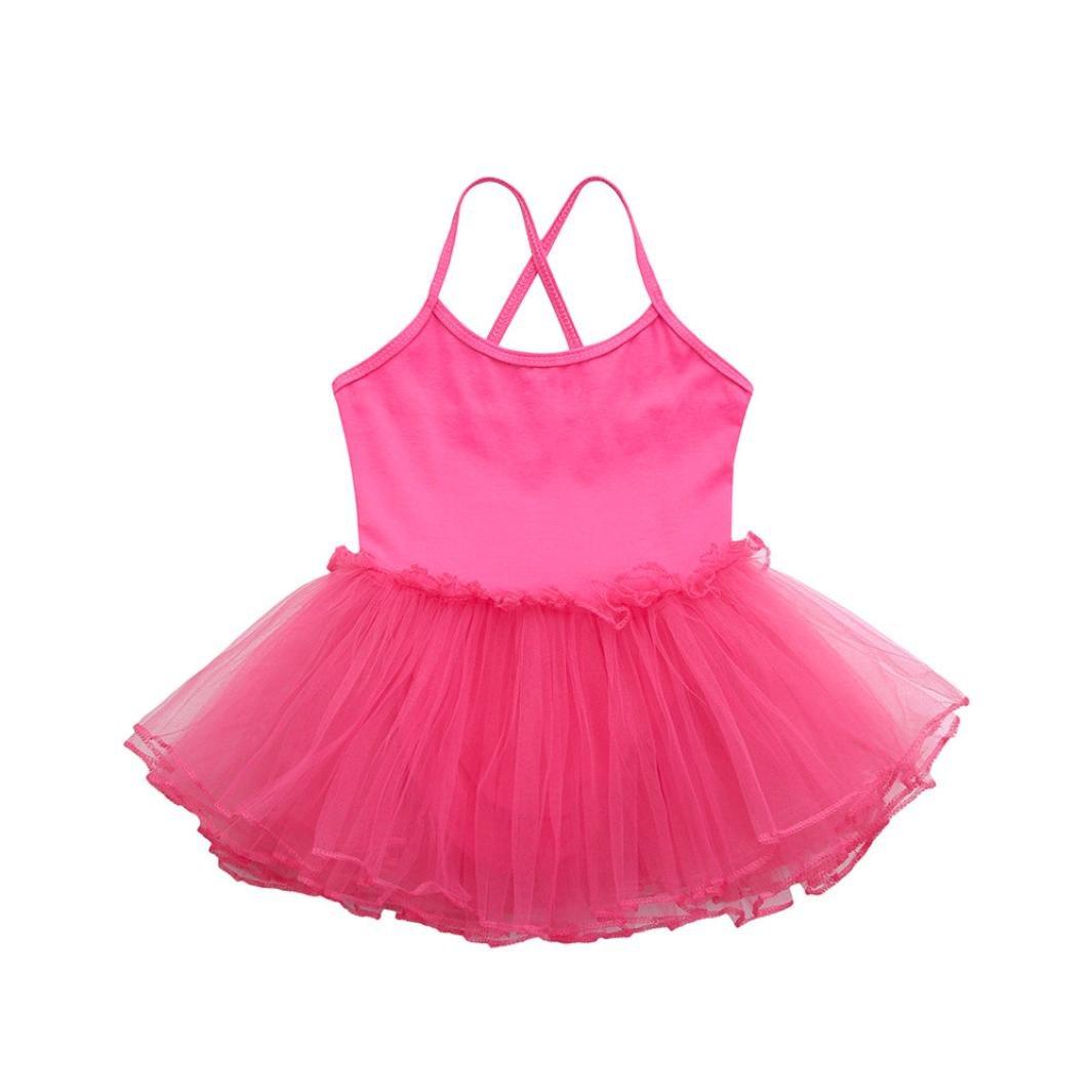 Moonker Girl Dancewear,Fashion Toddler Baby Girls Ballet Dress Tutu Leotard Dance Gymnastics Strap Clothes Outfits 2-6T