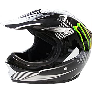 Leopardo leo-x15 Kids casco Motocross ATV Dirt Bike BMX casco, color Monster ,