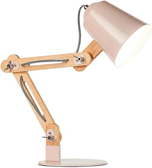 Lámparas de mesa- con Brazo articulado de Madera, protección ...
