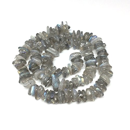 Top Quality Natural Grade A Labradorite Gemstone Free Form 8-10mm Loose Stone Beads 15 Inch for Jewelry Craft Making GZ3-10 ()