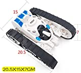 7TECH RC Tank battle Stunt Car, Remote Control Tank with LED Lights Music Transformation 360°Flip White