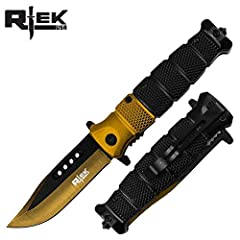 Licensed and Authentic Rtek Tactical Knives. This Series of R-Tek brand knives is perfect for the novice or advanced knife collector. With an ultra-hard polymer outer handle and a stainless steel inner skeleton. Multiple style and color handl...