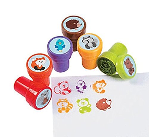 Fun Express Woodland Animals Stamper - 24 Piece Pack