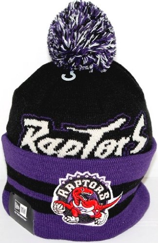 Toronto Raptors New Era NBA Wide Point Throwback Cuffed Knit Hat   Amazon.ca  Shoes   Handbags 6592e02bf8a