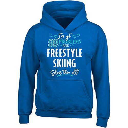 blems Freestyle Skiing Solves Them All Gift - Adult Hoodie 2XL Royal ()