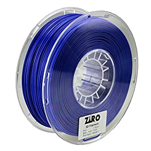 ZIRO 3D Printer Filament PLA 1.75 1KG(2.2lbs), Dimensional Accuracy +/- 0.05mm, Blue from ZIRO