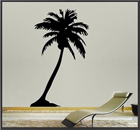 Amazon.com: Palm Tree - Wall Art Vinyl Sticker Decal Wall Decor ...