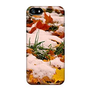 Fashion For HTC One M8 Phone Case Cover (autumn Leafs In Snow)
