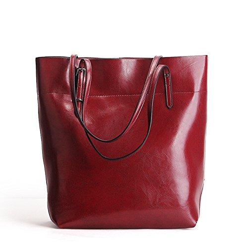 Bolso grande, bolso de hombro del cuero genuino de la vendimia, bolso grande de gran capacidad