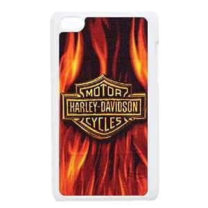 iPod Touch 4 Case White Harley Davidson Protective DIY Phone Case Cover XPDSUNTR19988