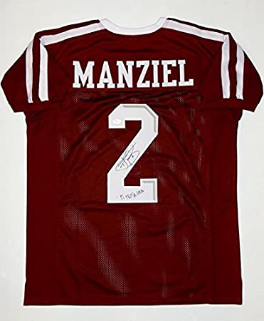 8131c5ceb98 Image Unavailable. Image not available for. Color  Johnny Manziel  Autographed Jersey - Maroon College ...