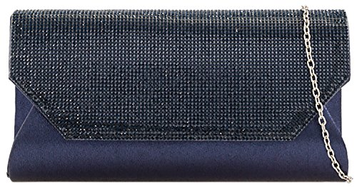 Spatk Clutch Bead You Pearl Faux Designer Rain Ladies Navy Fold Leather Bag ZgEHfTqwn