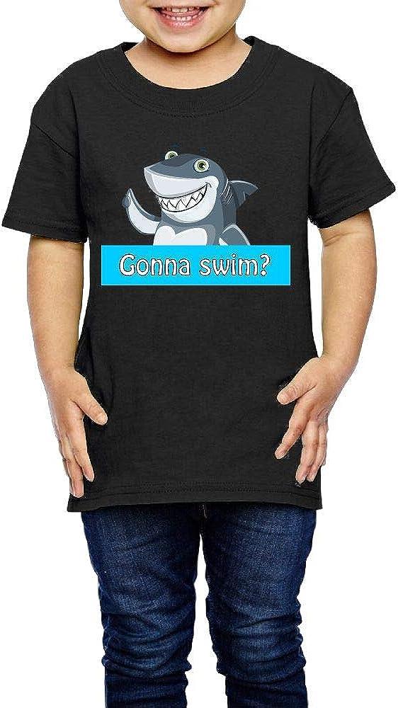 Kcloer24 Gonna Swim Boys Girls Cute T-Shirt Summer Tee 2-6 Years Old