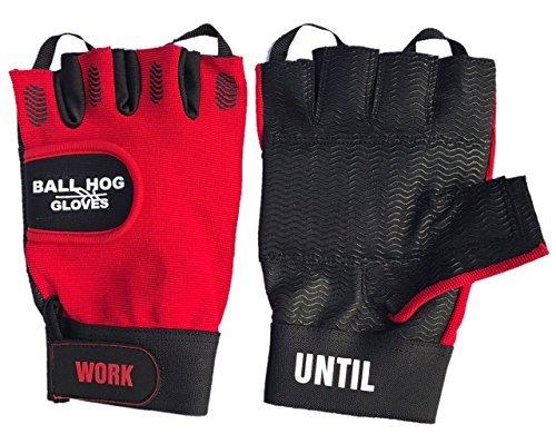 Ball Hog Gloves (Weight Lifting Gloves   Super Soft Foam Padding Technology   (Sports/Basketball Training Aid) (Large) ()