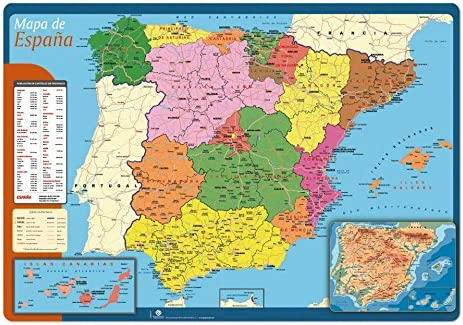VADE ESCOLAR MAPA ESPAÑA 35X49 BTAP020 ERIK: Amazon.es: Oficina y ...