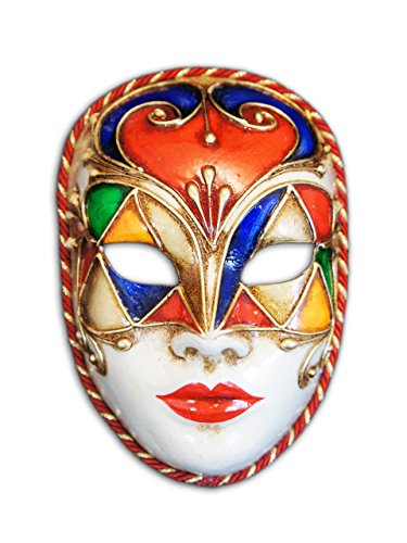 Voltes 5 Costume (Venetian Full Face Mask Volto Colore for Men and Women)