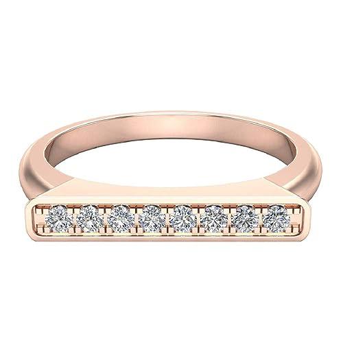 Amazon.com: Apilamiento banda anillo bar boda o aniversario ...