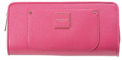 isaac-mizrahi-womens-handbags-valerie-saffiano-leather-clutch-wallet-fuchsia-pink