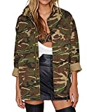 HaoDuoYi Womens Casual Camo Lightweight Zipper Outwear Jacket