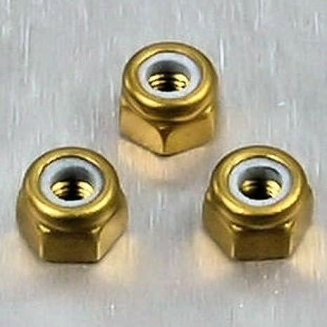 Aluminium Nylon Mutter M3 Schwarz