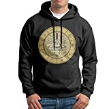 BFF Men's Hooded Sweatershirts Hoodies Gravity Falls Bill Cipher Wheel Black S