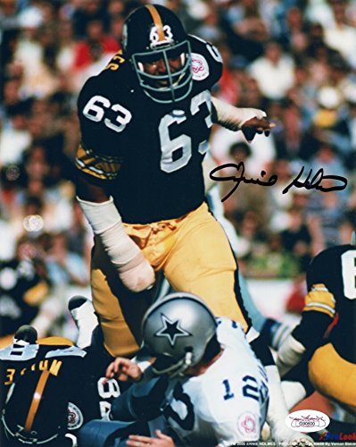 (Ernie Holmes Autographed Pittsburgh Steelers 8x10 Photo (Staubach sack) - JSA COA )