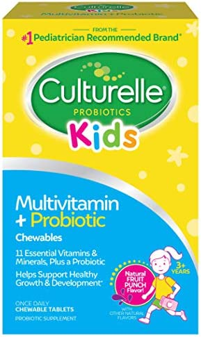 Culturelle Kids Complete Multivitamin + Probiotic Chewable - Digestive & Immune Support For Kids - With Vitamin C, D3 And Zinc - 50 Count