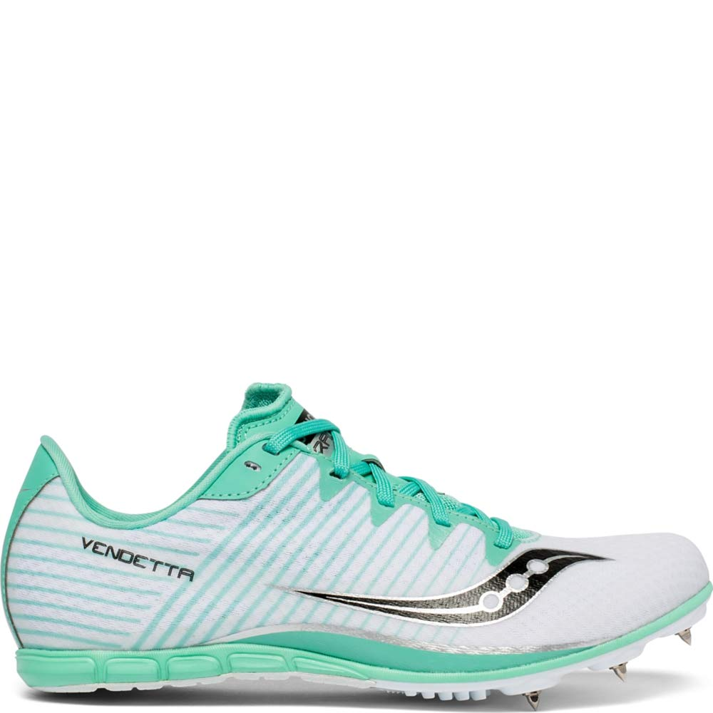 Saucony Women's Vendetta 2 Track Shoe White/Teal 9 Medium US by Saucony