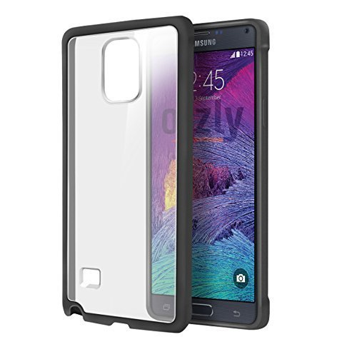 LAXY NOTE 4 - BLACK Fusion Case Cover Skin for SAMSUNG GALAXY NOTE 4 SmartPhone / Phablet - Fits all Note 4 Models from 2014 onwards ()
