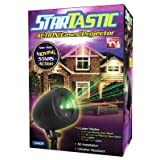 StarTastic Action Outdoor Laser Projector - Laser Projection of Christmas Lights on your Home and Garden - Weather Resistant - Displays thousands of little Red & Green Laser Moving Stars