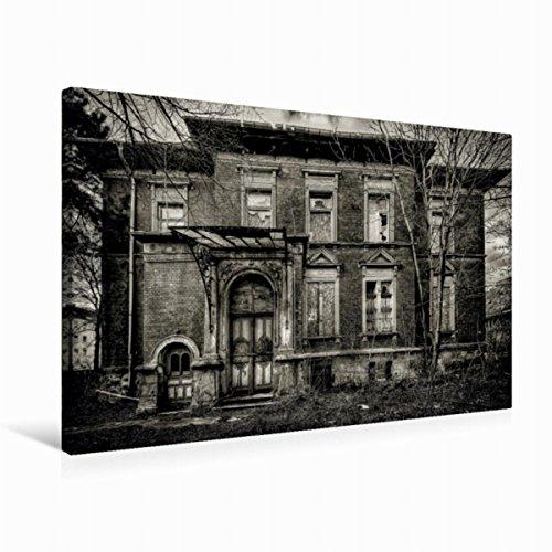 Premium Textil de lienzo 45cm x 30cm Horizontal fantasma Casa–Lost Place, 75x50 cm por NN