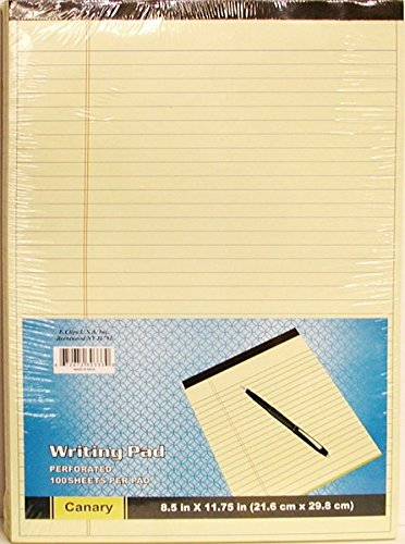 Ddi Legal Pads - Canary/yellow - 8.5'' X 11'' - 100 Sheets(pack Of 40)