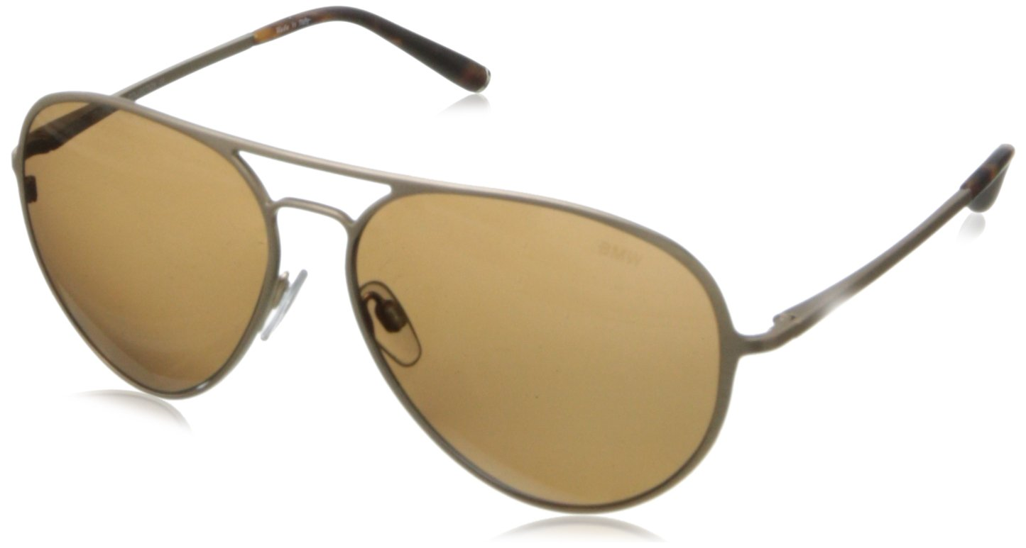 BMW B6500 Polarized Aviator Sunglasses,Matte Gold58 mm